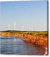Wind Turbines On Atlantic Coast Canvas Print