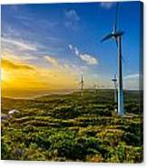 Windfarm Sunset Canvas Print