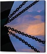Windjammer Schooner Appledore Bobstays In Abstract Canvas Print