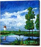 Windmill, Holland, 2006 Oil On Board Canvas Print