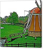 Windmill In A Park In Enkhuizen-netherlands Canvas Print