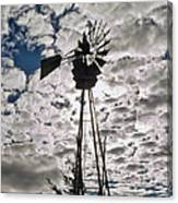 Windmill In The Clouds Canvas Print