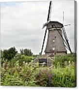 Windmill Of Kinderdijk Canvas Print