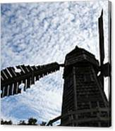Windmill On A Cloudy Day Canvas Print