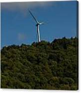 Windmill On A Mountain Canvas Print