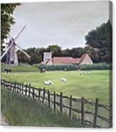 Windmill On Farm Canvas Print