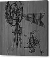 Windmill Patent Barn Wall Canvas Print