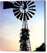 Windmill Silhouette Canvas Print
