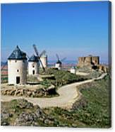 Windmills At La Mancha, Spain Canvas Print