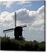 Windmills Silhouette Canvas Print