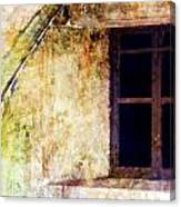 Window - Water Color - Fort Canvas Print