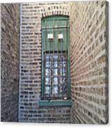 Window Against The Wall Canvas Print