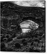 Window Arch At Sunrise Canvas Print
