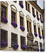 Window Boxes In Germany Canvas Print