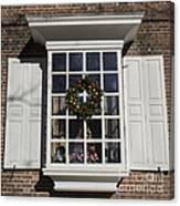 Window Decorations In Williamsburg Canvas Print