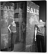 Window Display Sale With Mannequins No.1292 Canvas Print
