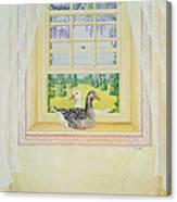 Window Geese Canvas Print