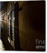 Window In An Alley With Sunlight Canvas Print