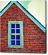 Window In Brick House Canvas Print