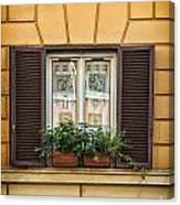 Window In Rome Canvas Print