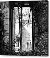 Window Of Haunted Abbey Canvas Print