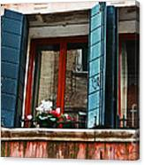 Window Of Venice Canvas Print