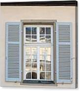Window Opposite Palace Of The Solitude In Stuttgart - Germany Canvas Print