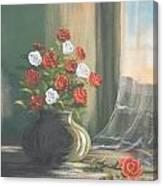 Window Roses Canvas Print