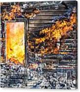 Window Thru The Depth Of Firey Fury Canvas Print