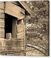 Window To Nowhere - Sepia Canvas Print