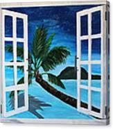 Window To Paradise Beach Canvas Print