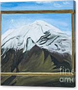 Window To The Popocatepetl A Mexican Volcano. Canvas Print