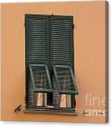 Window With Shutter Canvas Print