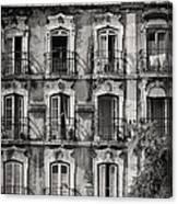 Windows And Balconies 1 Canvas Print