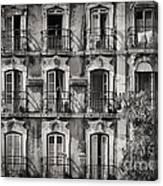 Windows And Balconies 2 Canvas Print