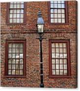 Windows And Brick Canvas Print