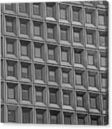 Windows In Black And White Canvas Print