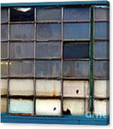 Windows In Blue Building 2 Canvas Print