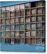 Windows In Blue Building 3 Canvas Print