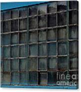 Windows In Blue Building Canvas Print