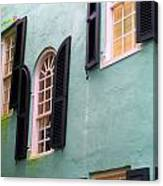 Windows In Charleston Canvas Print