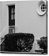 Windows In The Round In Black And White Canvas Print
