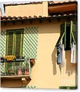Windows, Italy Canvas Print