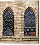 Windows Within The Catholic Walls Canvas Print