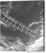 Winds Of Time Black And White Canvas Print