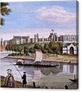 Windsor Castle From Across The Thames Canvas Print