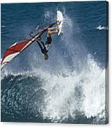 Windsurfer Hanging In Canvas Print