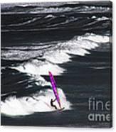 Windsurfing Man Canvas Print