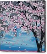 Windswept Blossoms Canvas Print