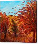 Windy Autumn Day Canvas Print